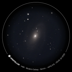 Bode's Galaxy viewed through the eVscope
