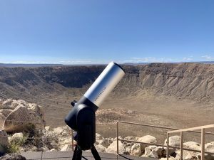 The Unistellar eVscope at Meteor Crater