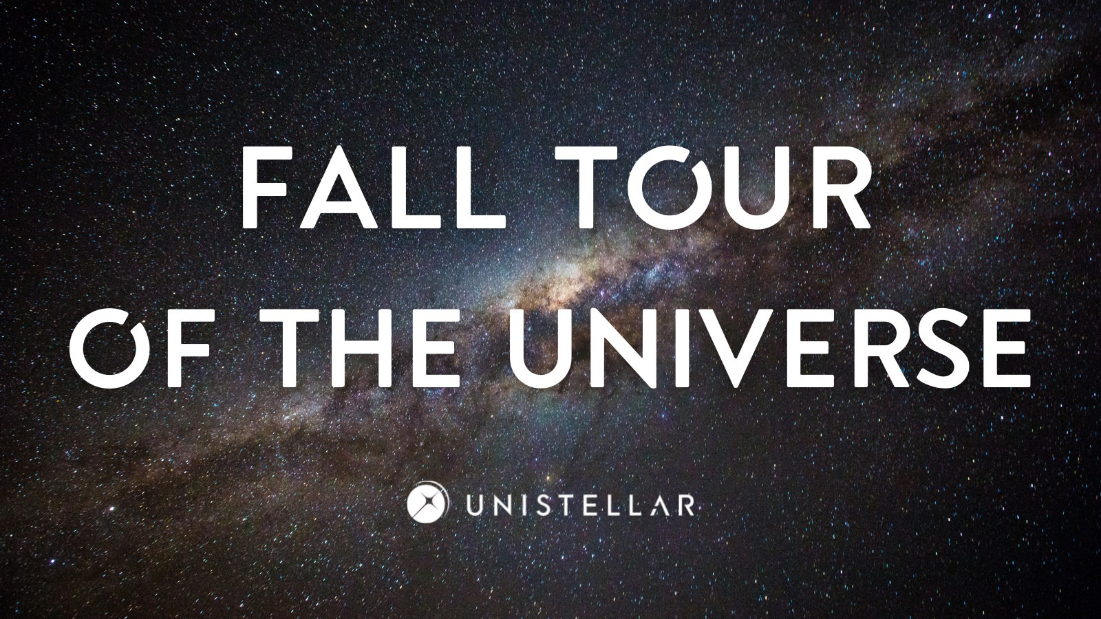 fall tour of the universe